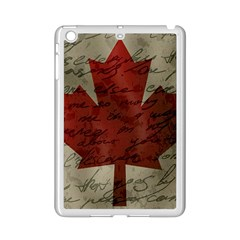 Canada Flag Ipad Mini 2 Enamel Coated Cases by Valentinaart