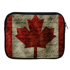 Canada Flag Apple Ipad 2/3/4 Zipper Cases by Valentinaart