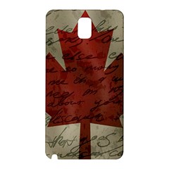 Canada Flag Samsung Galaxy Note 3 N9005 Hardshell Back Case by Valentinaart