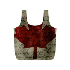 Canada Flag Full Print Recycle Bags (s)  by Valentinaart