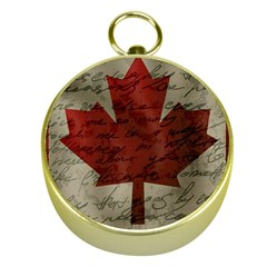 Canada Flag Gold Compasses by Valentinaart