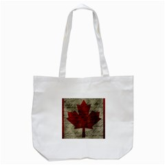 Canada Flag Tote Bag (white) by Valentinaart