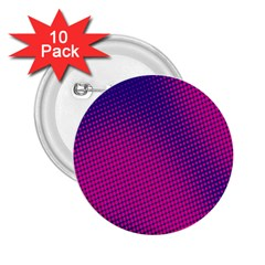Retro Halftone Pink On Blue 2 25  Buttons (10 Pack)