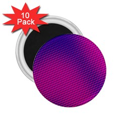 Retro Halftone Pink On Blue 2 25  Magnets (10 Pack)  by Simbadda