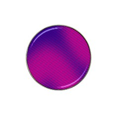 Retro Halftone Pink On Blue Hat Clip Ball Marker (10 Pack) by Simbadda