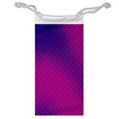 Retro Halftone Pink On Blue Jewelry Bag