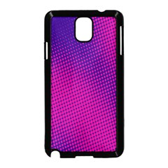 Retro Halftone Pink On Blue Samsung Galaxy Note 3 Neo Hardshell Case (black)