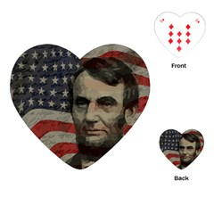 Lincoln Day  Playing Cards (heart)