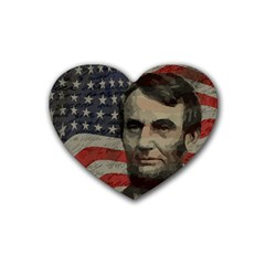 Lincoln Day  Heart Coaster (4 Pack)  by Valentinaart