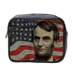 Lincoln Day  Mini Toiletries Bag 2 Side by Valentinaart