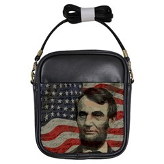Lincoln Day  Girls Sling Bags by Valentinaart
