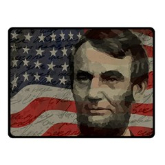 Lincoln Day  Fleece Blanket (small) by Valentinaart