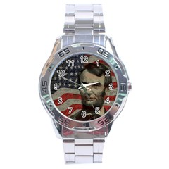 Lincoln Day  Stainless Steel Analogue Watch by Valentinaart