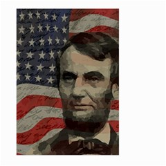 Lincoln Day  Large Garden Flag (two Sides) by Valentinaart