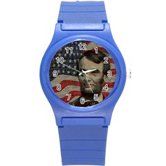 Lincoln Day  Round Plastic Sport Watch (s) by Valentinaart