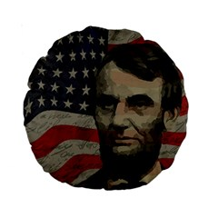 Lincoln Day  Standard 15  Premium Round Cushions by Valentinaart