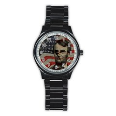 Lincoln Day  Stainless Steel Round Watch by Valentinaart