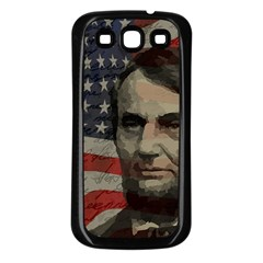 Lincoln Day  Samsung Galaxy S3 Back Case (black) by Valentinaart