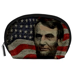 Lincoln Day  Accessory Pouches (large)  by Valentinaart