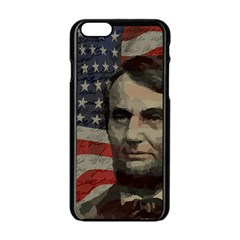 Lincoln Day  Apple Iphone 6/6s Black Enamel Case by Valentinaart