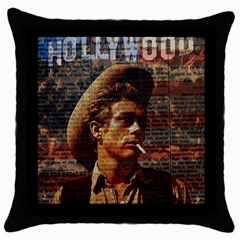 James Dean   Throw Pillow Case (black) by Valentinaart