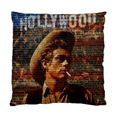 James Dean   Standard Cushion Case (two Sides) by Valentinaart