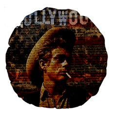 James Dean   Large 18  Premium Round Cushions by Valentinaart