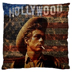 James Dean   Large Flano Cushion Case (one Side) by Valentinaart