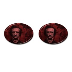 Edgar Allan Poe  Cufflinks (oval) by Valentinaart
