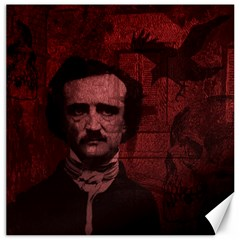 Edgar Allan Poe  Canvas 20  X 20   by Valentinaart