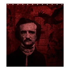 Edgar Allan Poe  Shower Curtain 66  X 72  (large)  by Valentinaart