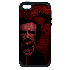 Edgar Allan Poe  Apple Iphone 5 Hardshell Case (pc+silicone) by Valentinaart
