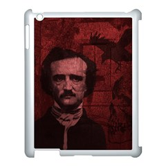 Edgar Allan Poe  Apple Ipad 3/4 Case (white) by Valentinaart