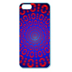 Binary Code Optical Illusion Rotation Apple Seamless Iphone 5 Case (color)