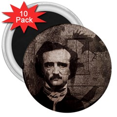 Edgar Allan Poe  3  Magnets (10 Pack)  by Valentinaart