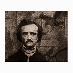 Edgar Allan Poe  Small Glasses Cloth (2 Side) by Valentinaart