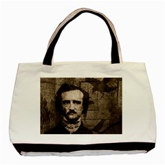 Edgar Allan Poe  Basic Tote Bag (two Sides) by Valentinaart