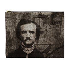 Edgar Allan Poe  Cosmetic Bag (xl) by Valentinaart