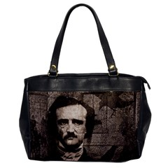 Edgar Allan Poe  Office Handbags by Valentinaart
