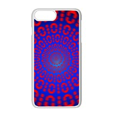 Binary Code Optical Illusion Rotation Apple Iphone 7 Plus White Seamless Case