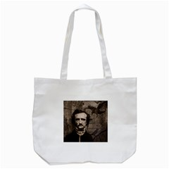 Edgar Allan Poe  Tote Bag (white) by Valentinaart