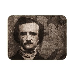 Edgar Allan Poe  Double Sided Flano Blanket (mini)  by Valentinaart