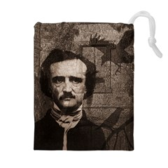 Edgar Allan Poe  Drawstring Pouches (extra Large) by Valentinaart