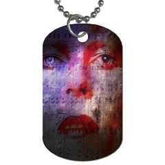 David Bowie  Dog Tag (one Side) by Valentinaart