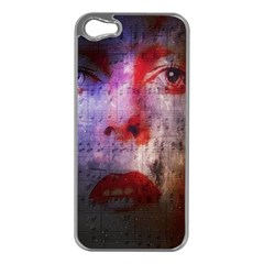 David Bowie  Apple Iphone 5 Case (silver)