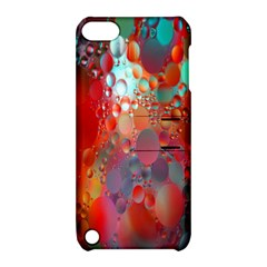 Texture Spots Circles Apple Ipod Touch 5 Hardshell Case With Stand