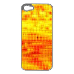 Bright Background Orange Yellow Apple Iphone 5 Case (silver)
