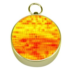 Bright Background Orange Yellow Gold Compasses