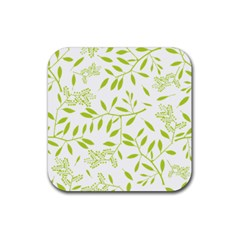 Leaves Pattern Seamless Rubber Coaster (square)