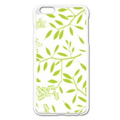 Leaves Pattern Seamless Apple Iphone 6 Plus/6s Plus Enamel White Case